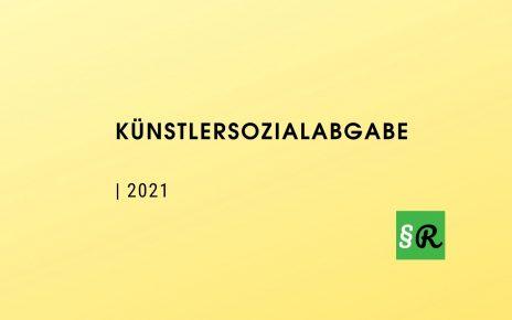 Künstlersozialabgabe 2021