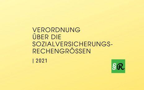 Verordnung über die Sozialversicherungsrechengrößen