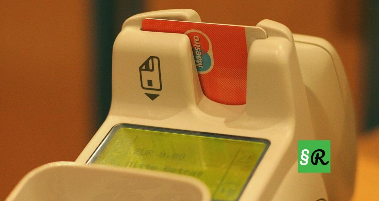 Платежный терминал с банковской картой