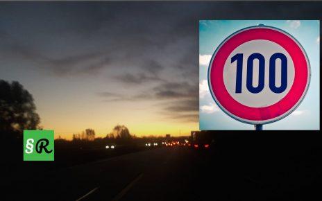 Ограничение скорости 100 км/ч